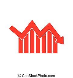 infographic, graphique, vecteur, flèche, icon., données