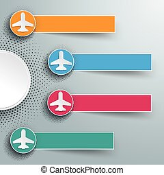 Infographic Halftone 4 Circles Banners Jets - Infographic ...