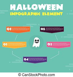 Infographic Halloween Theme Design Collection