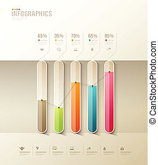 Infographic health graph design colorful background, vector ...