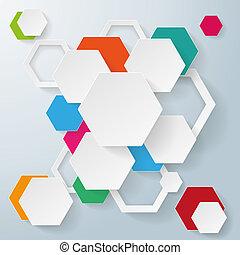 Infographic hexagon design.