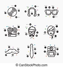 infographic, hipster