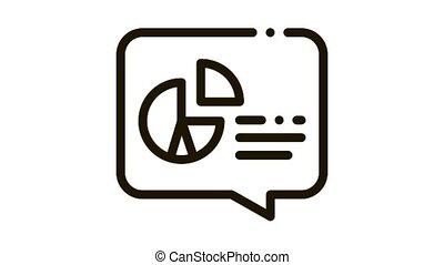 Infographic Icon Animation. black Infographic animated icon on white background