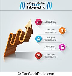 Infographic icons. Arrows icon. - Infographic design...