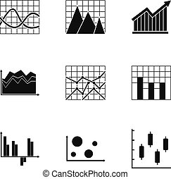 Infographic icons set, simple style