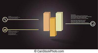 infographic, illustration, gabarit, 3d