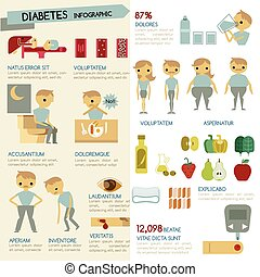 infographic, illustrator, zuckerkrankheit