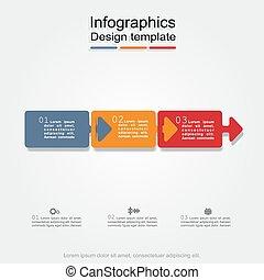 infographic, ilustracja, wektor, projektować, chorągiew, template.