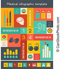 infographic, incapacidad, template.