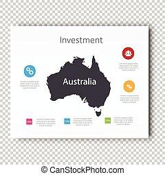 Infographic Investment slide of Australia Map