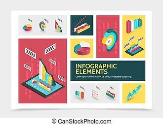 infographic, isométrique, concept, résumé