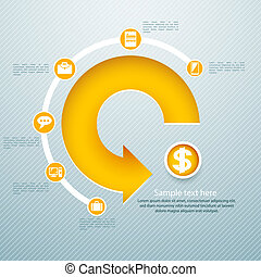 infographic isometric graph / can be used for infographics /...