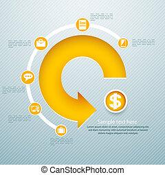 infographic, isometrico, grafico, /, lattina, essere, usato,...