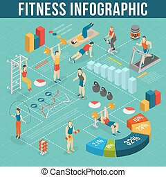 infographic, jogo, condicão física