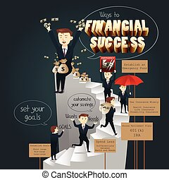 infographic, közül, el, fordíts, anyagi siker