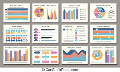 Infographic layout. Business presentation chart graph, corporate marketing report. Multipurpose finance infographics vector elements