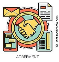 infographic., lijn, overeenkomst