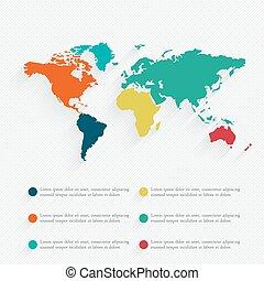 infographic, mapa, illustration., informacja, szczegół, wektor, grafika, świat