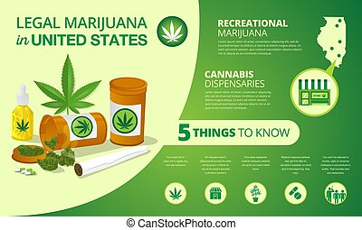 infographic marijuana legalization status in United States