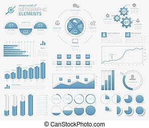 infographic, mega, elementy, opakujcie