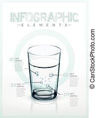 infographic, modelo, desenho