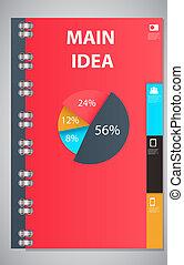 infographic, modelo, desenho, vetorial, ilustração