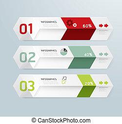 infographic, modelo, modernos, projeto caixa, mínimo, estilo, /, lata, ser, usado, para, infographics, /, numerado, bandeiras, /, horizontais, cutout, linhas, /, gráfico, ou, site web, esquema, vetorial