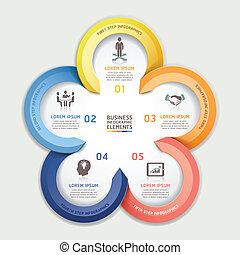 infographic, moderne, business., flèche