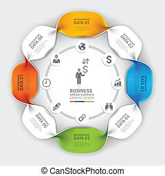 infographic, moderne, spirale, business