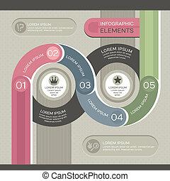 infographic, moderno, sagoma