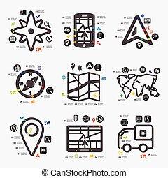 infographic, navegação