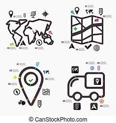 infographic, navigatie
