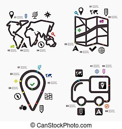 infographic, navigation