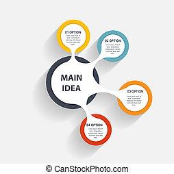 infographic, negócio, modelo, vetorial, ilustração