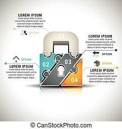infographic, negócio