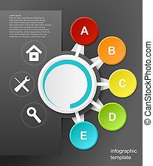 infographic, noir, vecteur, conception, fond