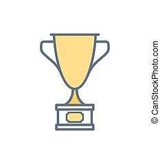 Infographic of Golden Prize Vector Illustration