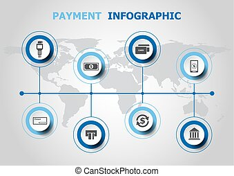 infographic, ontwerp, betaling, iconen