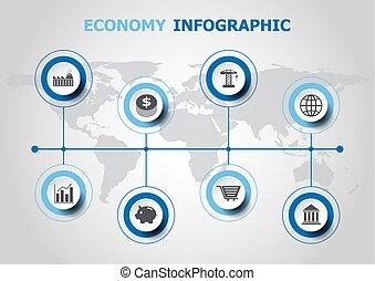 infographic, ontwerp, economie, iconen