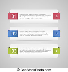 Infographic options banner