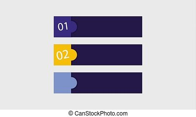 infographic options bars numbers template animation hd