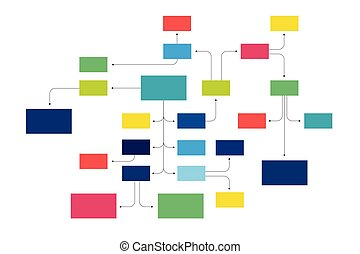infographic., organigrama, mapa, mente