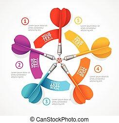 infographic, přání, concept., vektor, vyrazit, prapor