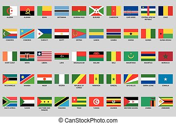 infographic, paese, set, africa, elementi