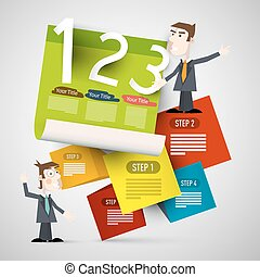 Infographic Paper Layout with Businessmen