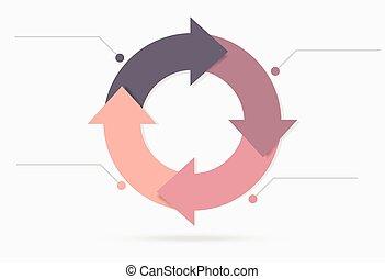 infographic, pastello, ciclo, colorito, contenuto, vita, marketing