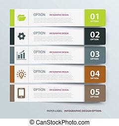 infographic, patka, szablon, etykieta