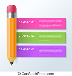 infographic pencil design concept vector illustration
