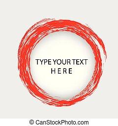 infographic, placement, vecteur, crayon, gabarit, cercle, frontière, trou, rouges