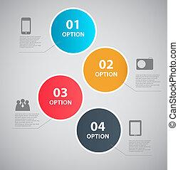 infographic, plantilla, diseño, vector, ilustración
